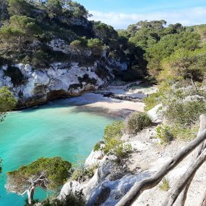 Cami de Cavalls en Menorca. cala Macarelleta