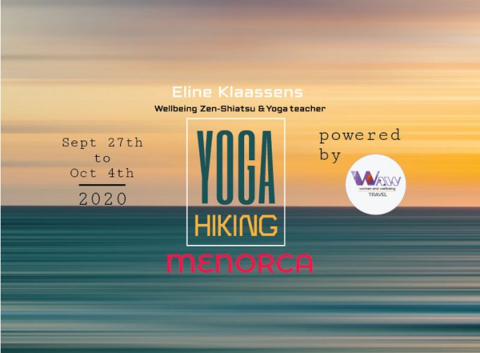 waw.travel 8day yoga and walking in Menorca poster Eng